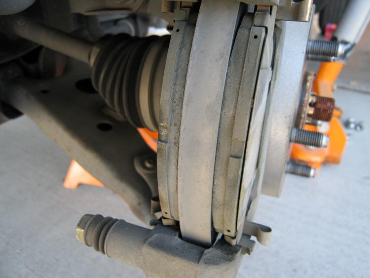 Minimum Thickness For Brake Pads : Rav brakes